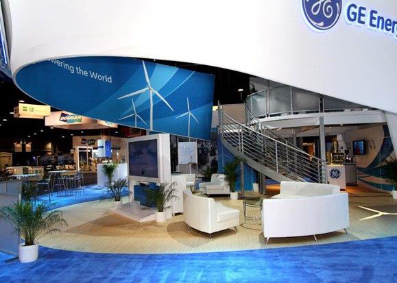 Use tradeshow flooring to enhance an exhibit